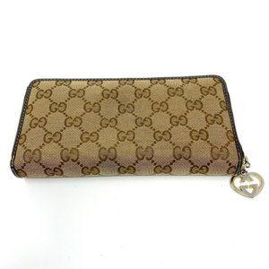 100% Auh Gucci Brown Zippy Guccissima Wallet